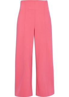 Oscar De La Renta Woman Cropped Wool-blend Wide-leg Pants Bubblegum