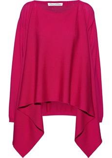 Oscar De La Renta Woman Draped Wool Sweater Magenta
