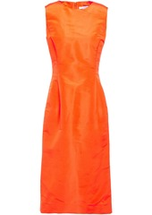 Oscar De La Renta Woman Duchesse Silk-satin Dress Orange