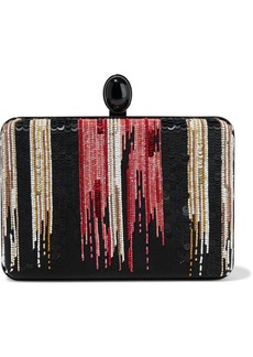 Oscar De La Renta Woman Embellished Silk-satin Clutch Multicolor