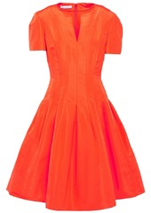 Oscar De La Renta Woman Flared Duchesse Silk-satin Dress Orange