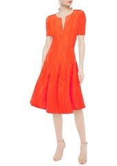Oscar De La Renta Woman Flared Duchesse Silk-satin Dress Orange