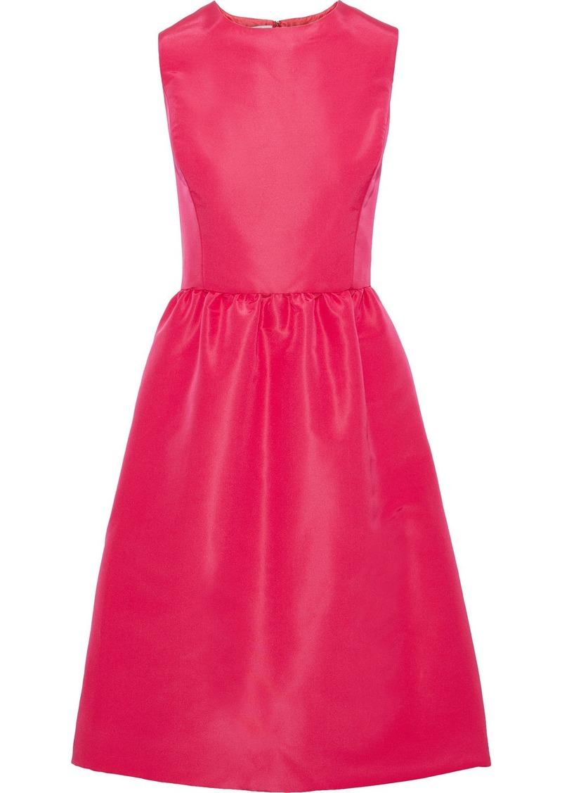 Oscar De La Renta Woman Flared Silk-faille Dress Fuchsia