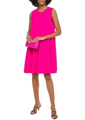 Oscar De La Renta Woman Flared Wool-blend Crepe Dress Bright Pink