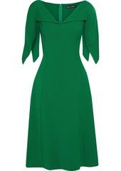 Oscar De La Renta Woman Flared Wool-blend Crepe Dress Forest Green