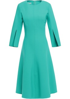 Oscar De La Renta Woman Flared Wool-blend Dress Turquoise