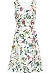 Oscar De La Renta Woman Floral-print Silk-twill Dress Off-white