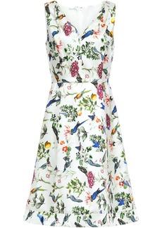 Oscar De La Renta Woman Floral-print Silk-twill Dress White