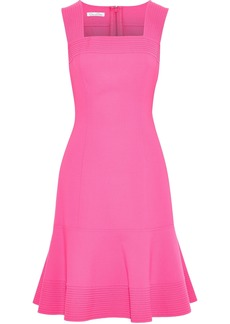 Oscar De La Renta Woman Fluted Wool-blend Cady Dress Pink