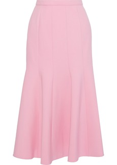 Oscar De La Renta Woman Fluted Wool-blend Skirt Pink