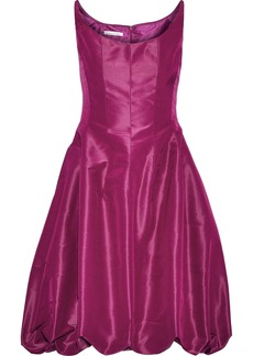 Oscar De La Renta Woman Gathered Silk-taffeta Mini Dress Magenta