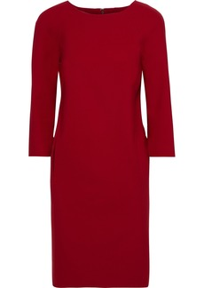 Oscar De La Renta Woman Gathered Wool-blend Cady Dress Crimson