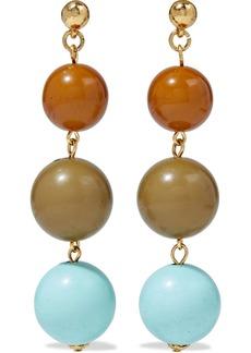 Oscar De La Renta Woman Gold-tone Beaded Earrings Multicolor