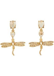 Oscar De La Renta Woman Gold-tone Crystal And Faux Pearl Earrings Gold