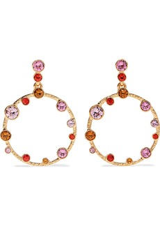 Oscar De La Renta Woman Gold-tone Crystal Earrings Gold
