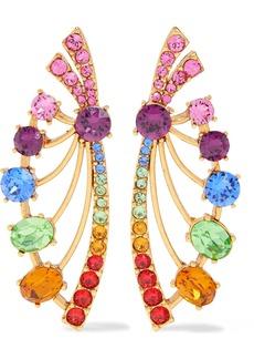 Oscar De La Renta Woman Gold-tone Crystal Earrings Multicolor