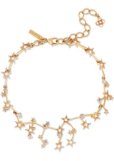 Oscar De La Renta Woman Gold-tone Crystal Necklace Gold