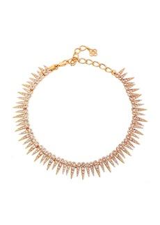Oscar De La Renta Woman Gold-tone Crystal Necklace Rose Gold