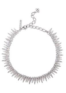 Oscar De La Renta Woman Gold-tone Crystal Necklace Silver