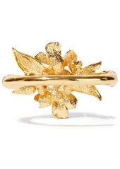 Oscar De La Renta Woman Gold-tone Enamel And Crystal Bangle White