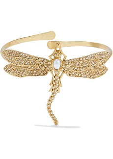 Oscar De La Renta Woman Gold-tone Faux Pearl And Crystal Cuff Gold