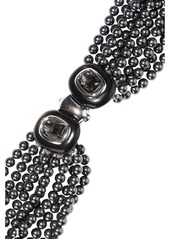 Oscar De La Renta Woman Gold-tone Faux Pearl Necklace Black