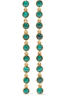 Oscar De La Renta Woman Gold-tone Malachite Earrings Emerald