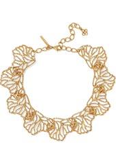 Oscar De La Renta Woman Hammered Gold-tone Necklace Gold