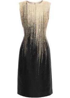 Oscar De La Renta Woman Jacquard Dress Sand