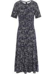 Oscar De La Renta Woman Jacquard-knit Midi Dress Navy
