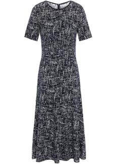Oscar De La Renta Woman Jacquard-knit Midi Dress Navy