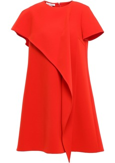 Oscar De La Renta Woman Layered Draped Crepe Mini Dress Red