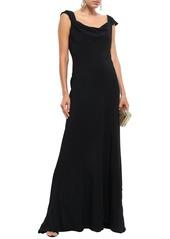 Oscar De La Renta Woman Open-back Crepe Gown Black