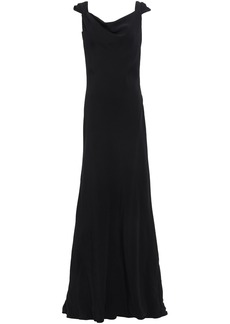 Oscar De La Renta Woman Open-back Crepe Gown Black