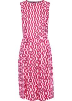 Oscar De La Renta Woman Pleated Printed Cotton Dress Pink
