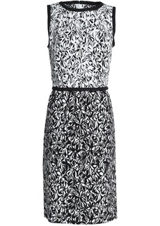 Oscar De La Renta Woman Printed Cotton-blend Dress Black