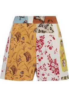 Oscar De La Renta Woman Printed Cotton-blend Poplin Shorts Multicolor