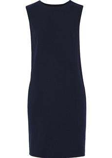 Oscar De La Renta Woman Printed Twill-trimmed Wool-blend Crepe Mini Dress Midnight Blue