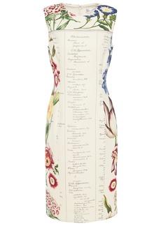 Oscar De La Renta Woman Printed Wool-twill Dress Ivory