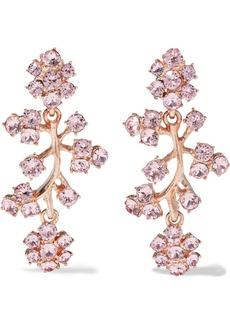 Oscar De La Renta Woman Gold-tone Crystal Clip Earrings Blush
