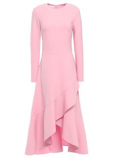Oscar De La Renta Woman Ruffled Stretch-crepe Midi Dress Baby Pink