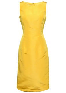 Oscar De La Renta Woman Silk-faille Dress Bright Yellow