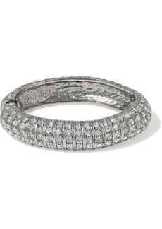 Oscar De La Renta Woman Silver-tone Crystal Bracelet Silver