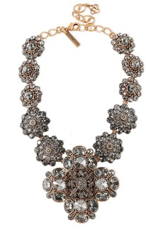 Oscar De La Renta Woman Silver-tone Crystal Necklace Gold