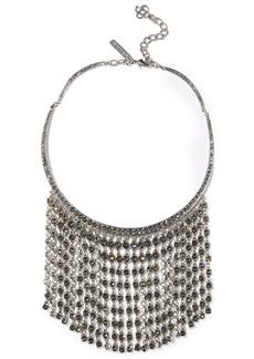 Oscar De La Renta Woman Silver-tone Crystal Necklace Silver