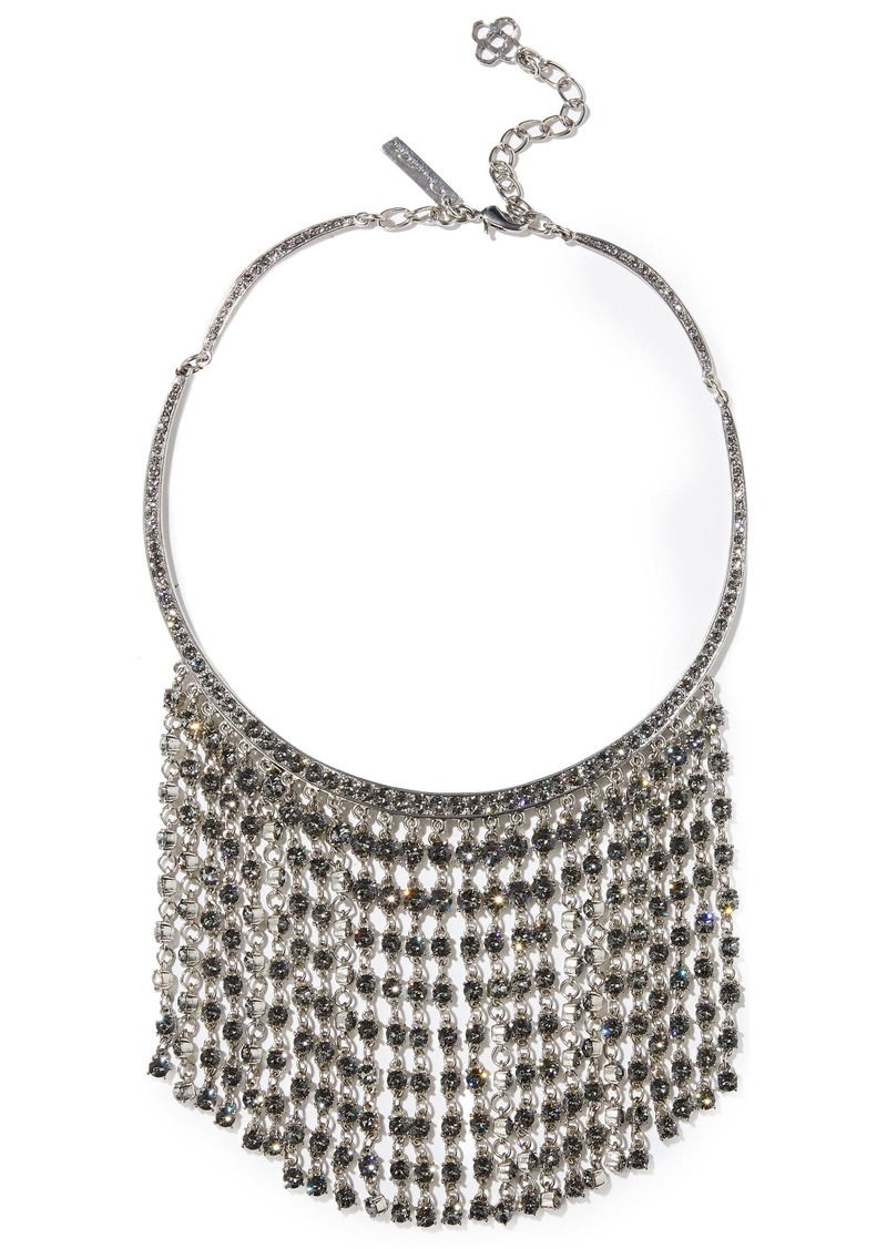Oscar De La Renta Woman Silver-tone Crystal Necklace Silver