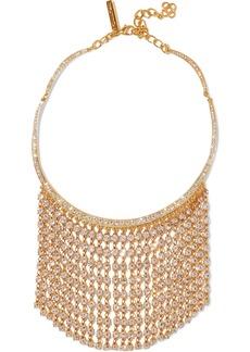 Oscar De La Renta Woman Silver-tone Crystal Necklace Gold