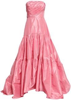 Oscar De La Renta Woman Strapless Silk-taffeta Gown Pink