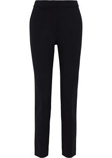 Oscar De La Renta Woman Stretch-wool Slim-leg Pants Black