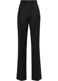 Oscar De La Renta Woman Stretch-wool Twill Straight-leg Pants Black